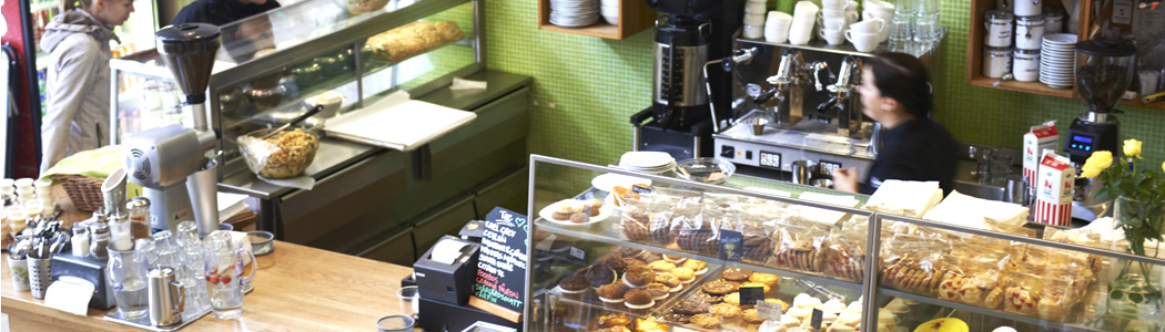 Interiör från Hanis cafe